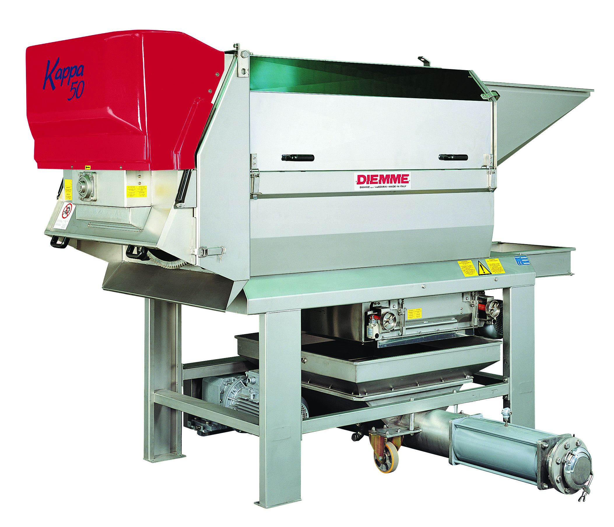 destemmer and crushers for grape and wine processing