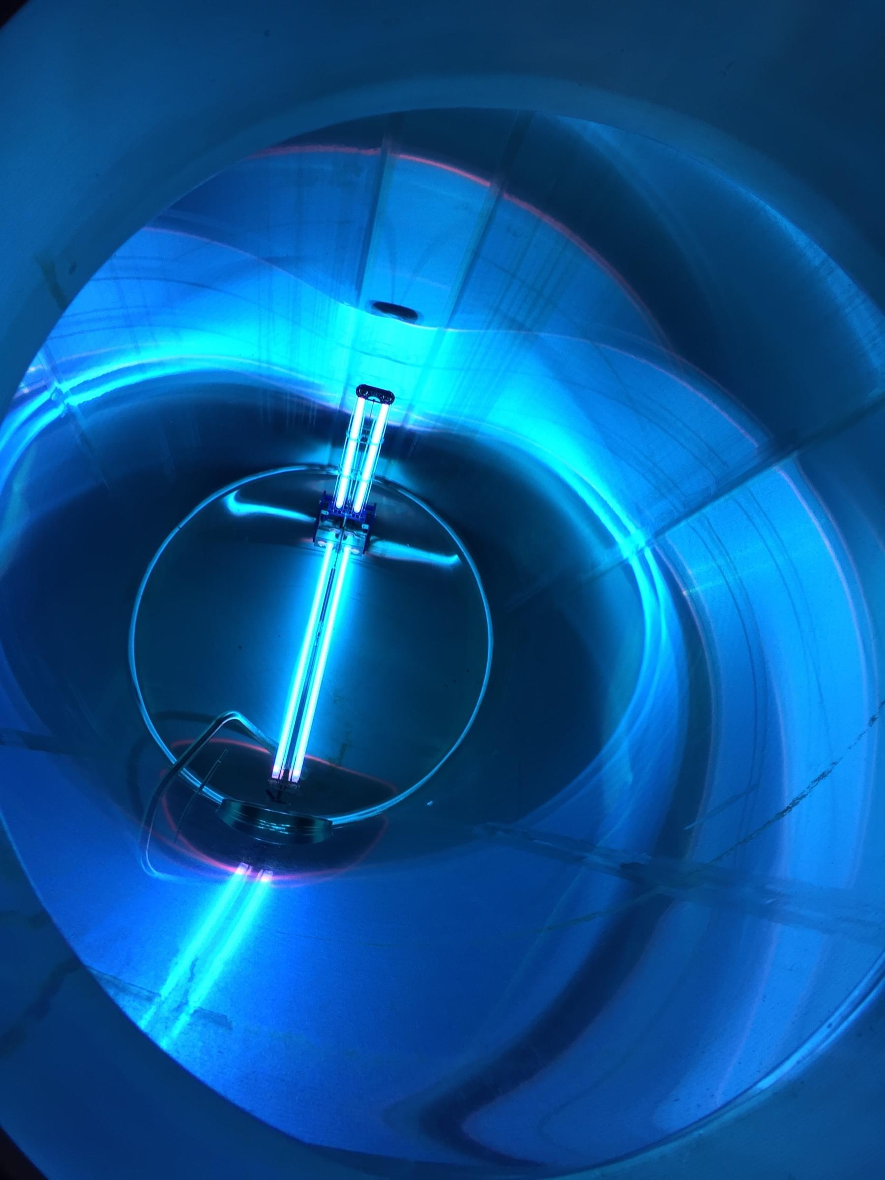 blue morph steel tank sanitization system